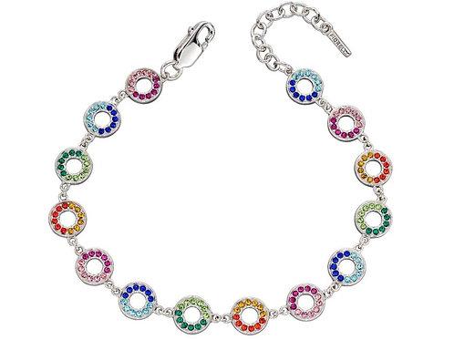 Silver Rainbow cz bracelet