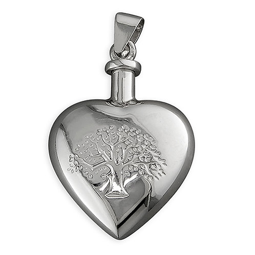Silver Tree of Life Memorial Ashes Pendant