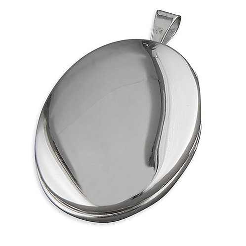 Silver Plain Oval Locket