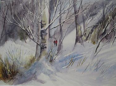 The Woodcutters 35x50cm  Watercolour.JPG