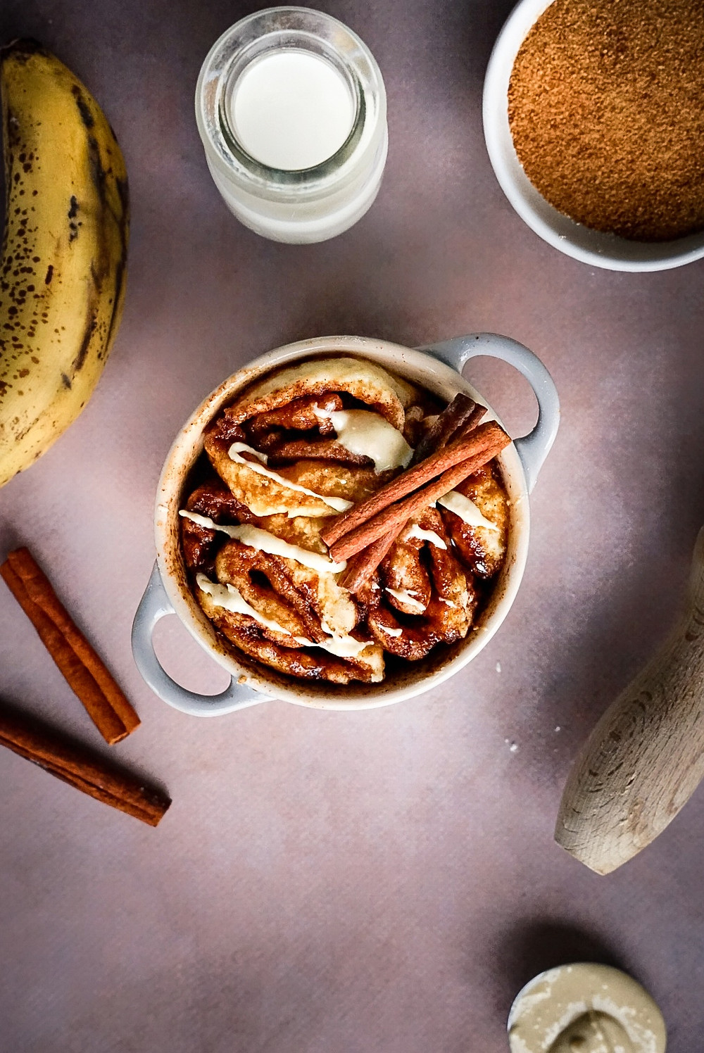 Cinnamon Rolls au micro-ondes - express, healthy et vegan