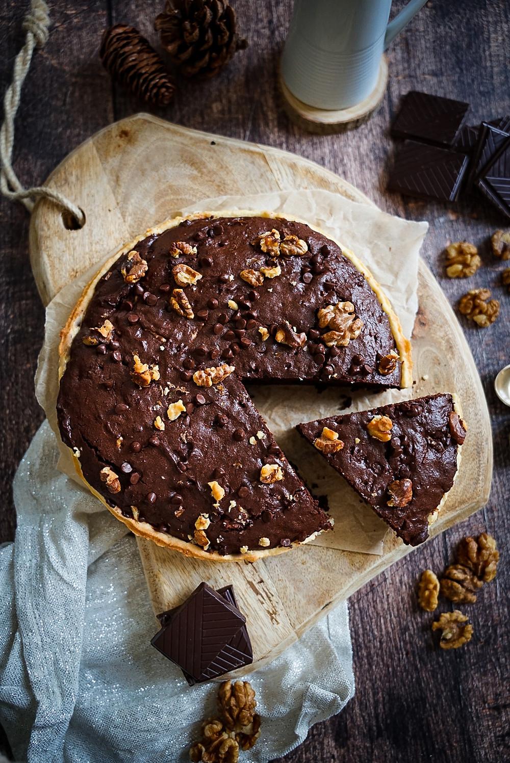Tarte façon brownie healthy et gourmande