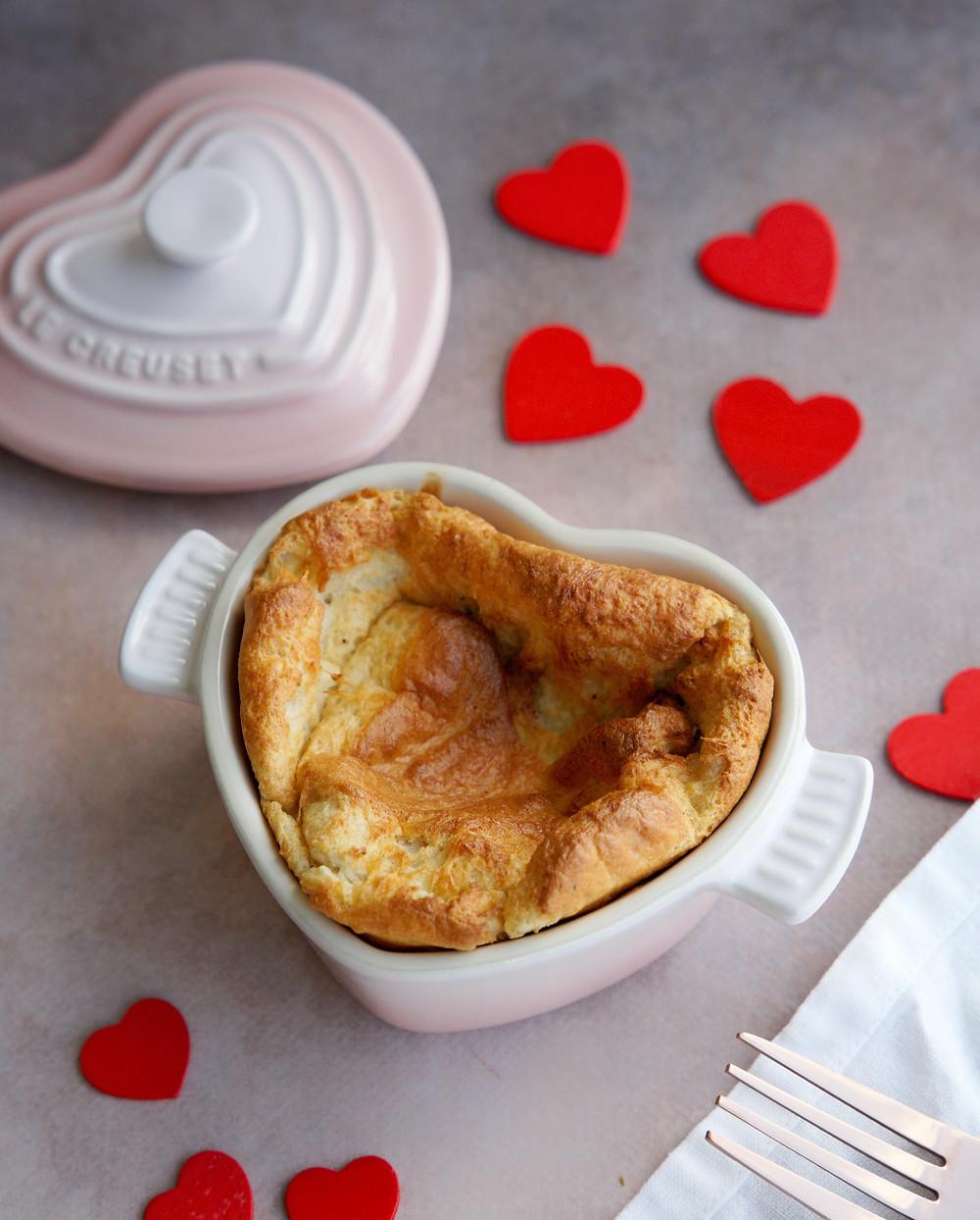 Menu spécial Saint-Valentin (entrée, plat, dessert)