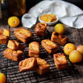 Mini cakes aux prunes