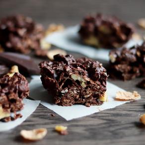 Les carrés crunchy au chocolat