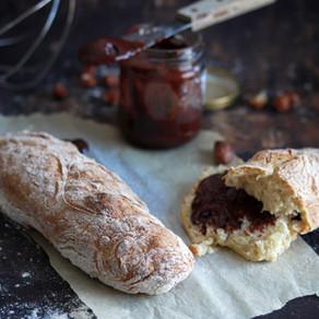 Baguettes + pâte à tartiner maison