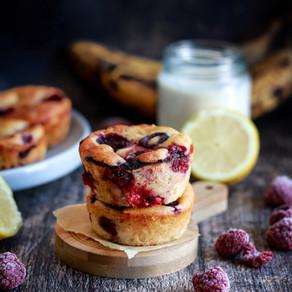 Muffins façon clafoutis citron / framboises