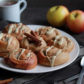 Cinnamon rolls pomme cannelle