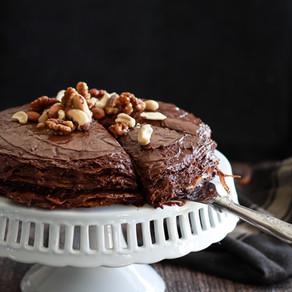 Le gâteau de crêpes au chocolat (vegan)