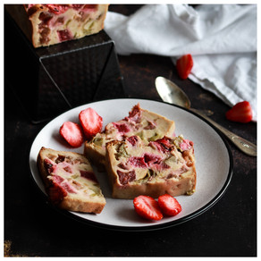 Cake fraise rhubarbe