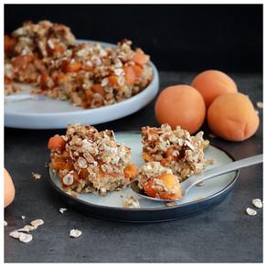 Barres aux abricots façon crumble