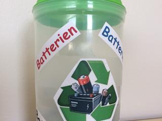 Nuevos contenedores de reciclaje de pilas