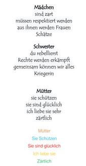 """Píldora coeducativa 10: """"Elfchen"""", creaciones poéticas en alemán"""