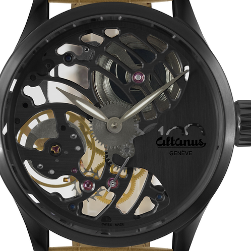 "Centenary ""Sculpture"" Mechanical Skeleton Watch - Gun Metal"