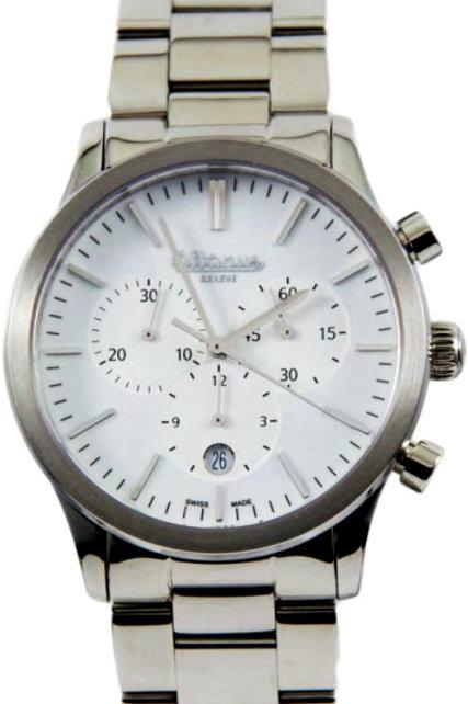 Altanus Geneve Prestige SS Chronograph w/ SS Band