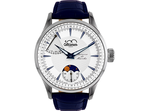 "Centenary ""Reserve de Marche"" Moon Phases Mechanical Watch"