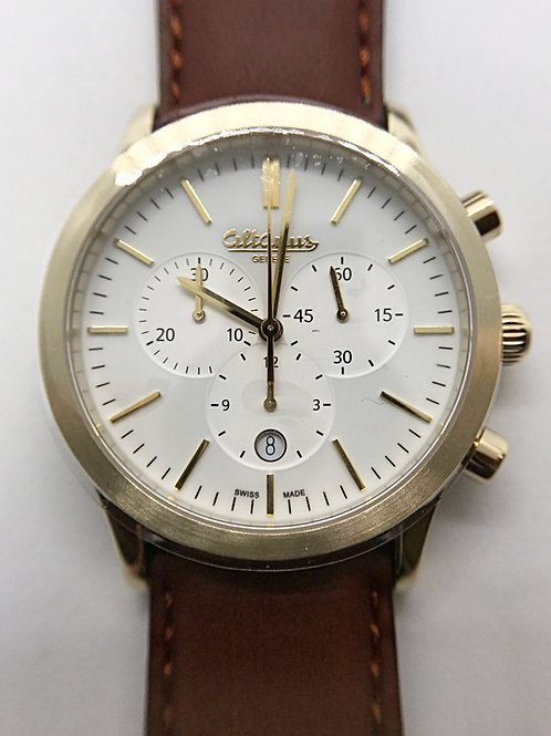 Altanus Geneve Prestige Gold Chronograph w/ Leather Band