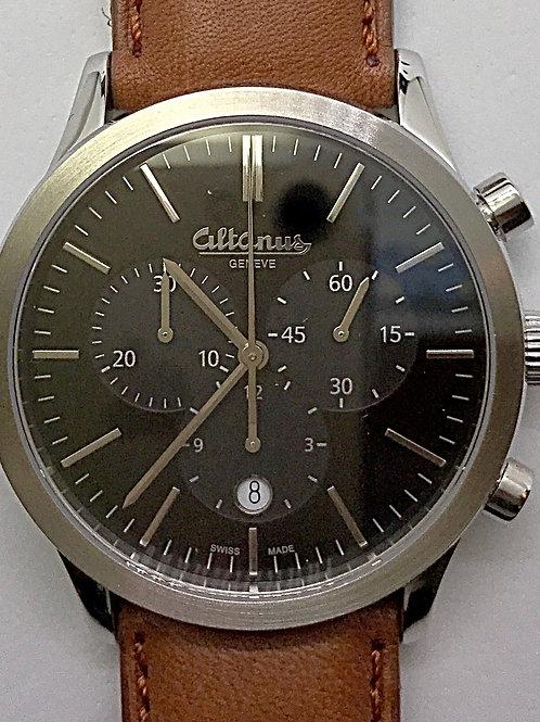Altanus Geneve Prestige SS Chronograph w/ Leather Band