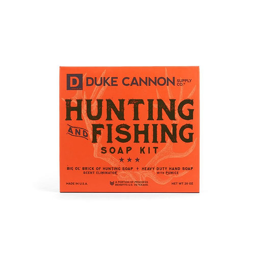 Hunting and fishing soap kit