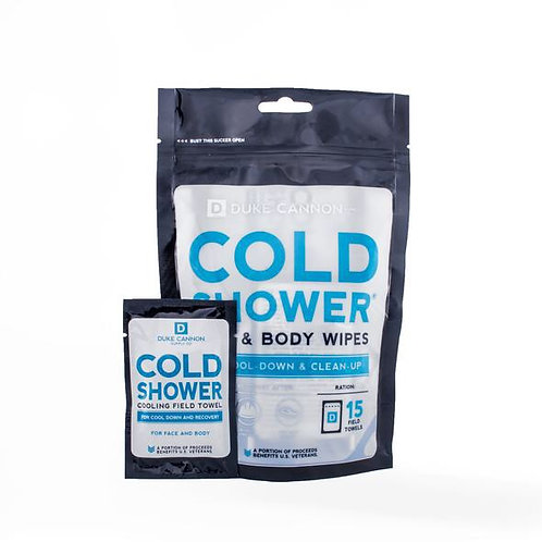 Duke Cannon Cold Shower Wipes