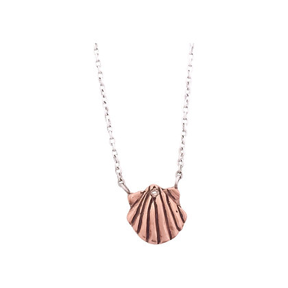 in product collar pink necklace rosegold jewelry scalloped scallop asos lyst