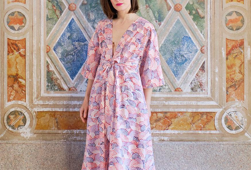 Maxi Kimono Dress - Rose