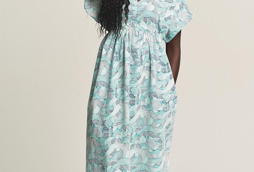 Maxi Dress Caftan - Blue