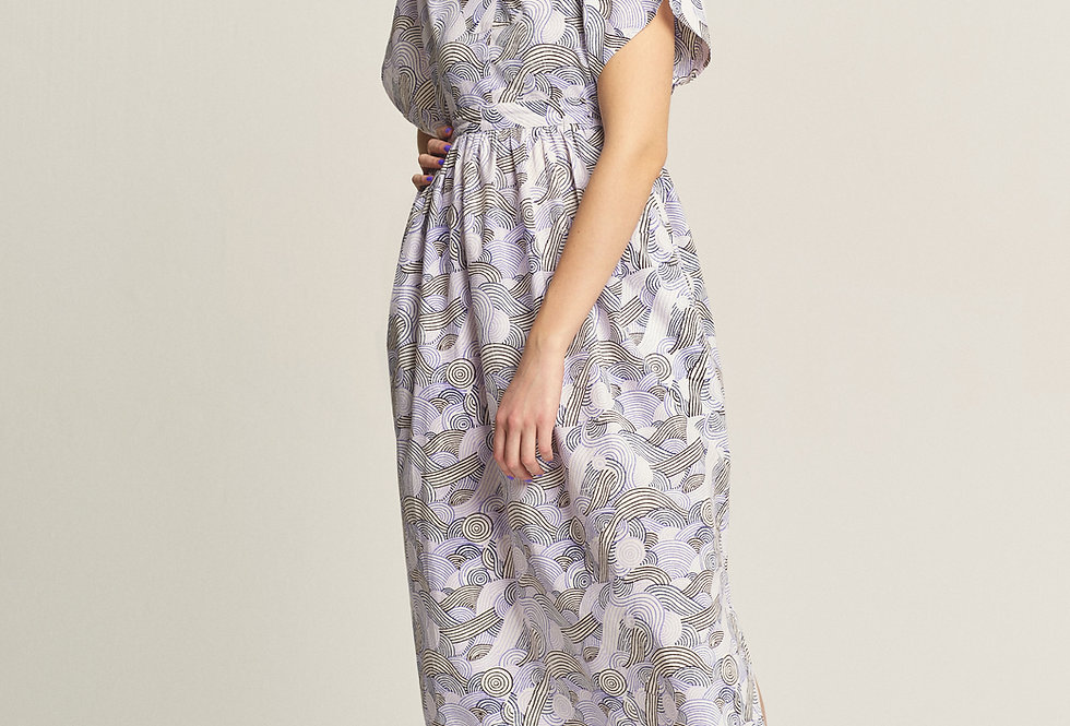 Maxi Dress Caftan - Purple