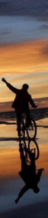 Man on bicycle silhouette photograph on Nigel Wilson workshop