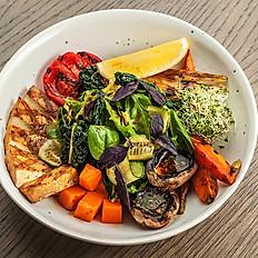 Боул с печеными овощами и тофу