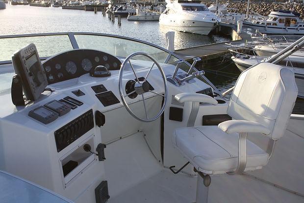 Boat flybridge steering