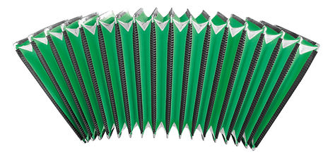 Bellows for accordions green customizing