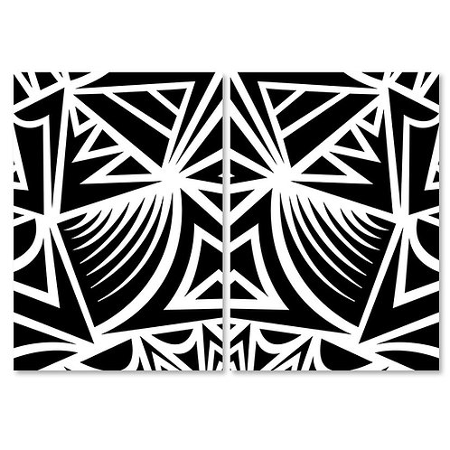 Zebra / black / x2