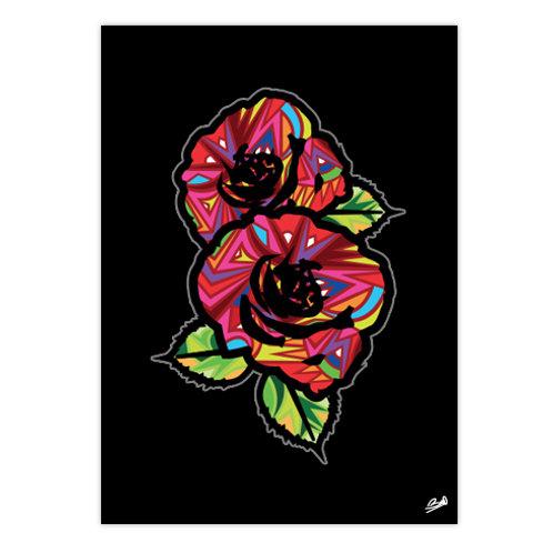 Poster Art Roses / black