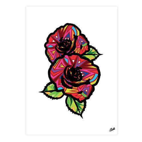 Poster Art Roses