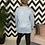 Thumbnail: Louisa Powder Blue Long Sleeved Top