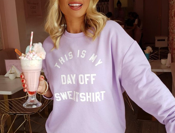 My Nelly Day Off Sweatshirt in Lilac