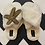 Thumbnail: Cream Fluffy Slippers With Starfish Brooch