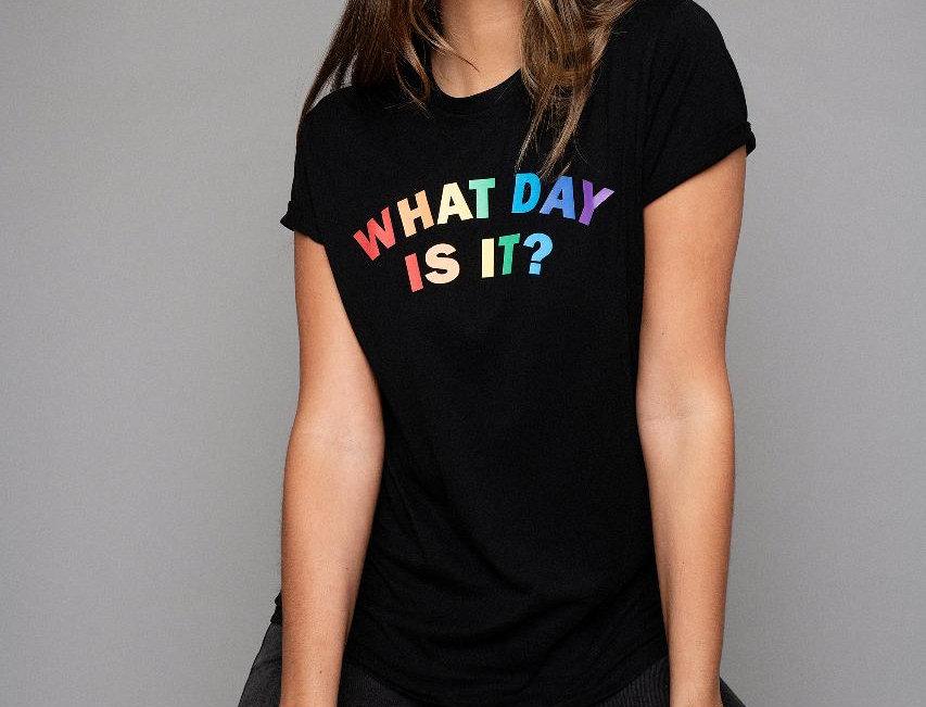 James Steward What Day Is It? Tee in Black