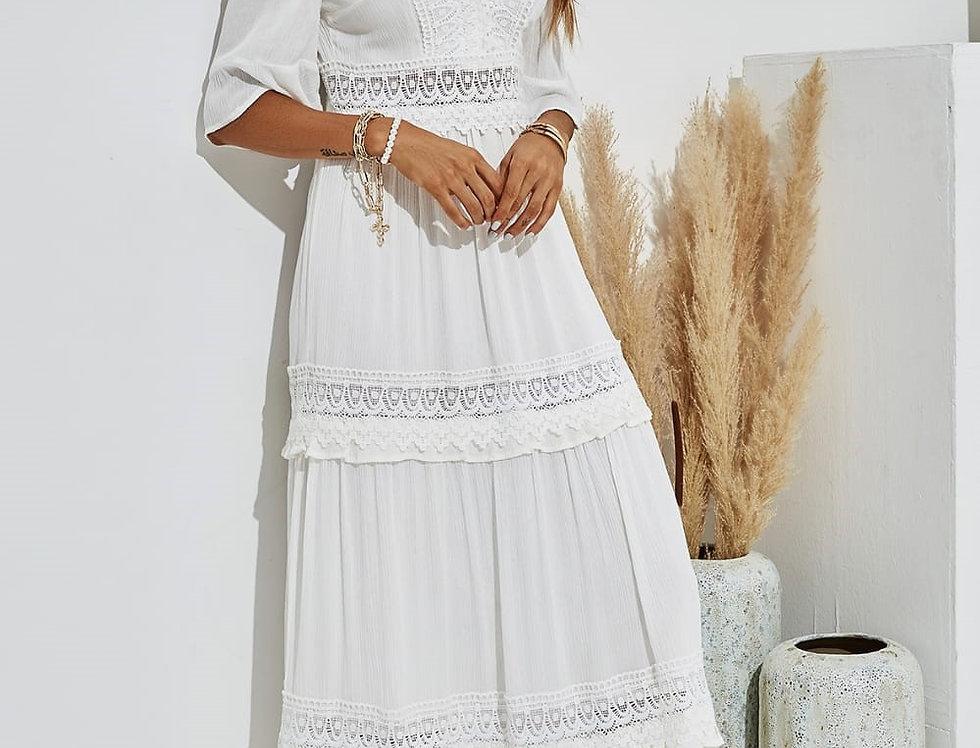 Valentina White Broderie Anglaise Maxi Dress