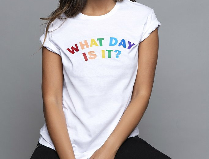 What Day Is It? Tee in White