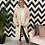 Thumbnail: Kendall Bobble Sleeve Long Cardigan in Cream