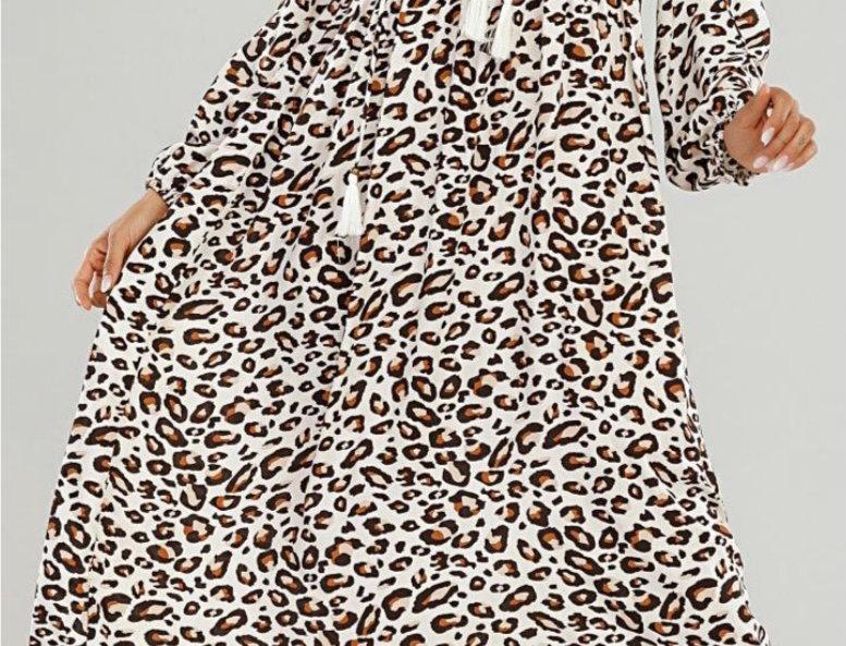 Libby Loves Leopard Maxi Dress