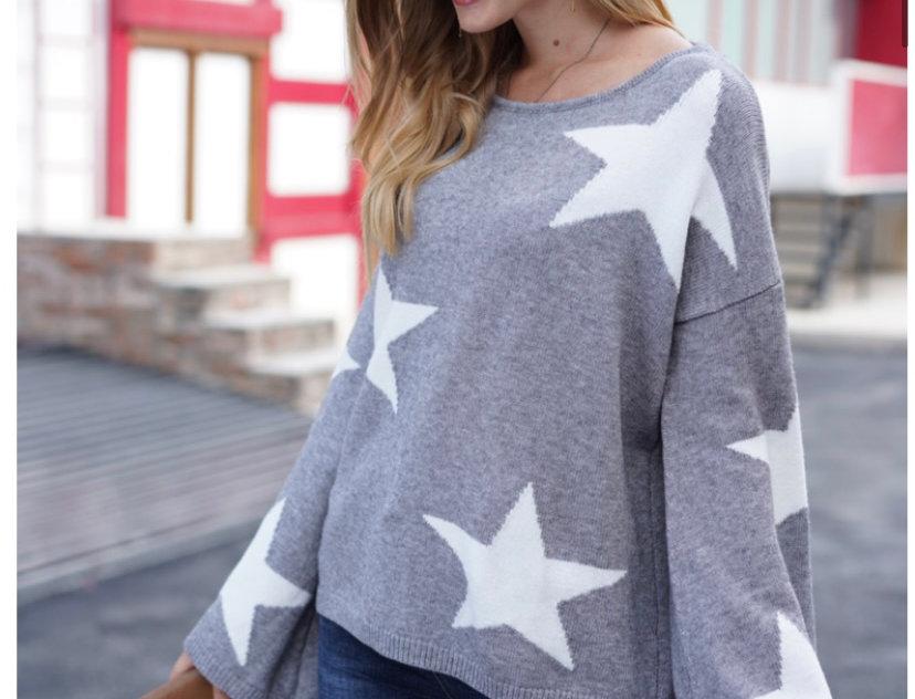 Stella Stars Jumper in Grey