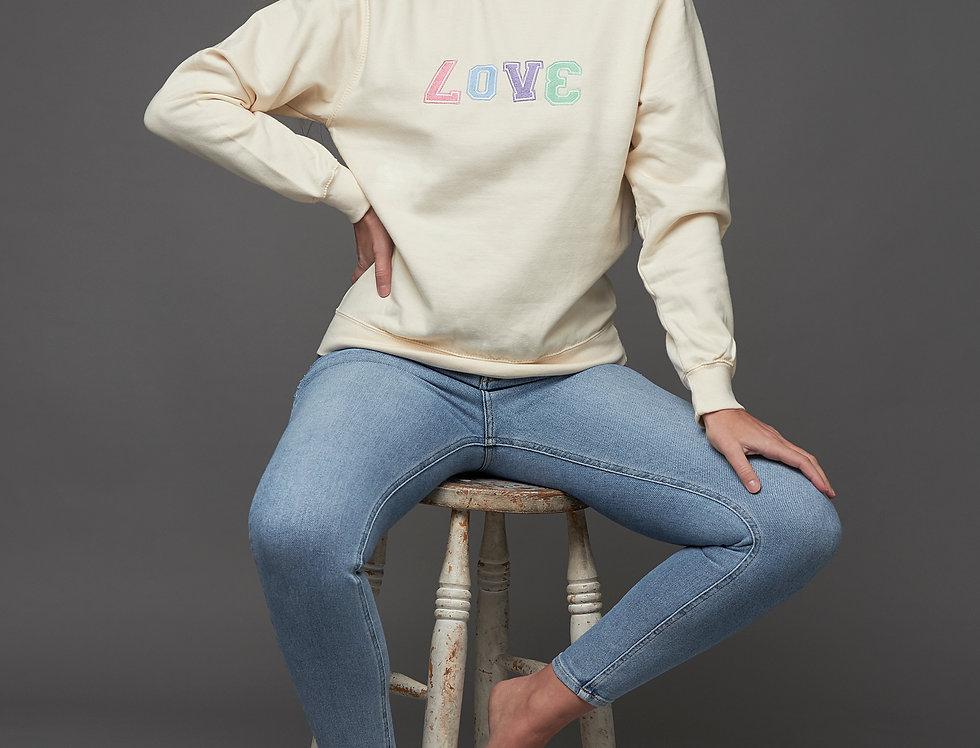 James Steward LOVE Embroidered Sweatshirt