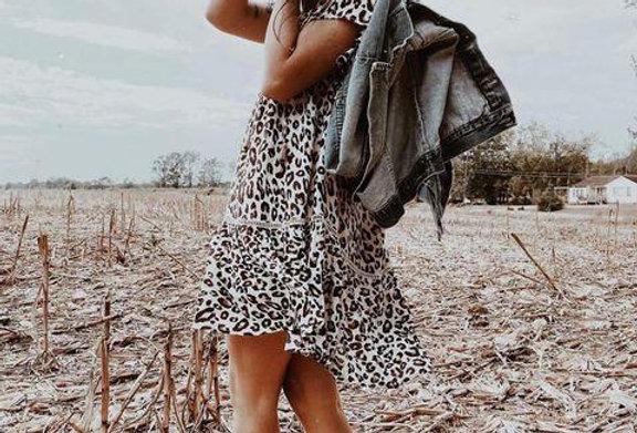 Leopard Swing Mini Dress
