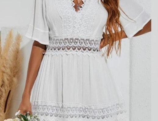 Valentina White Broderie Anglaise Mini Dress