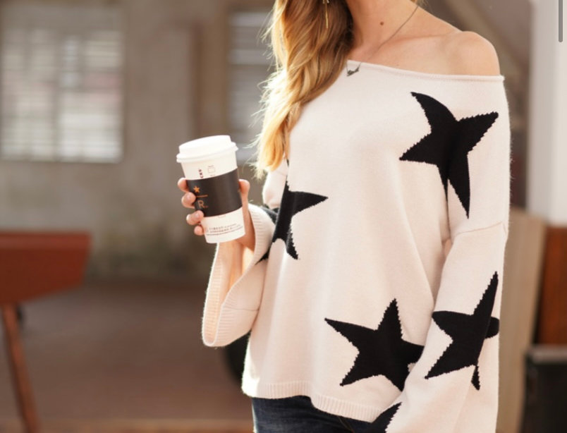 Stella Stars Jumper in Cream