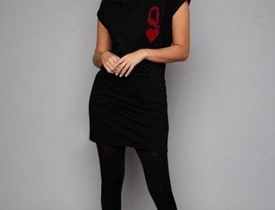 James Steward Queen of Hearts Dress in Black