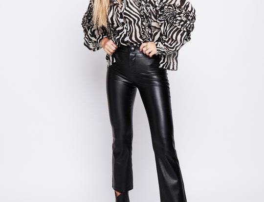 Arri Jagger Blouse in Zebra Print